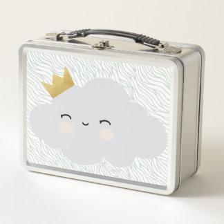 子供のモダンなお弁当箱-甘い雲のデザイン メタルランチボックス