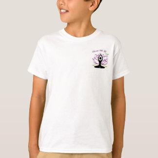 子供のユニセックスなロゴのティー Tシャツ