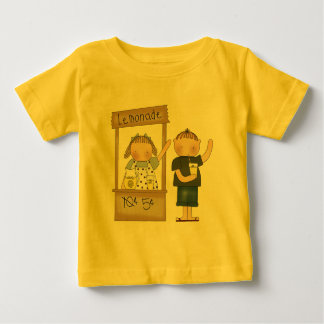 子供のレモネード立場のTシャツおよび子供のギフト ベビーTシャツ