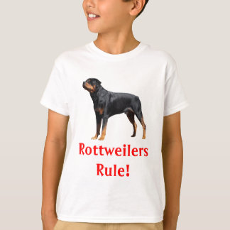 子供のロットワイラーの規則の小犬のTシャツ Tシャツ