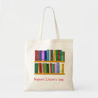 子供の一流のかわいい本の図書館のバッグ トートバッグ