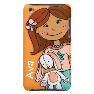 子供の一流のipod touchの女の子の抱擁のオレンジ Case-Mate iPod touch ケース