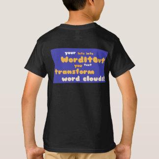 子供の上: 背部レイアウト Tシャツ