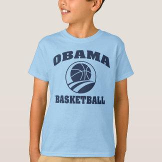 子供の優れた青いオバマのバスケットボールのTシャツ Tシャツ