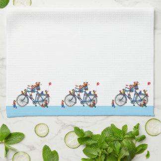 子供の台所タオルが付いている自転車 キッチンタオル