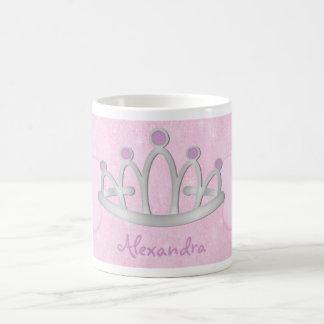 子供の名前入りなピンクのプリンセスのマグ コーヒーマグカップ