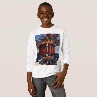 子供の基本的な長袖のTシャツ Tシャツ