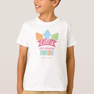 子供の基本的なTシャツ-リリーのアイスクリームの立場 Tシャツ