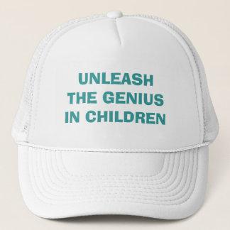 子供の天才を自由にして下さい キャップ