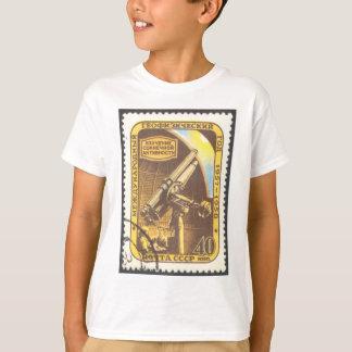 子供の天文学のTシャツのソビエト社会主義共和国連邦の1957年の天文学のスタンプ Tシャツ