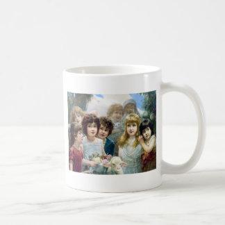 子供の女の子の男の子の子ヒツジ猫ペット コーヒーマグカップ
