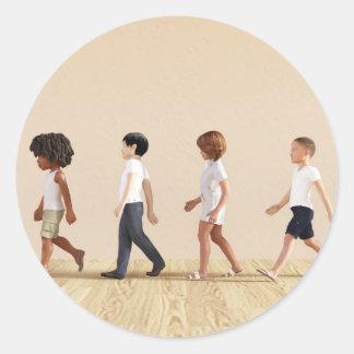 子供の学ぶことおよび演劇との児童の発育 ラウンドシール