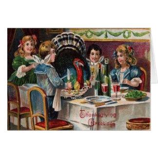 子供の感謝祭の夕食 カード
