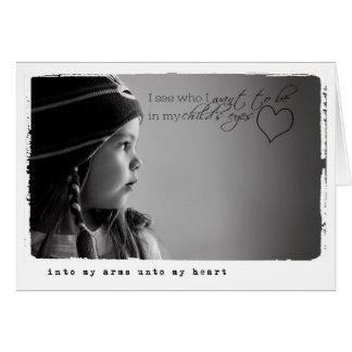子供の採用 グリーティングカード
