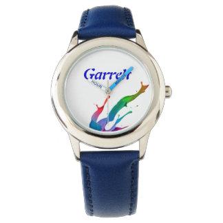 子供の斜面のステンレス鋼の腕時計(ブルー・バンド) 腕時計