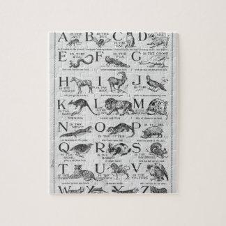 子供の新しい動物のアルファベット ジグソーパズル