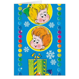 子供の新年 カード