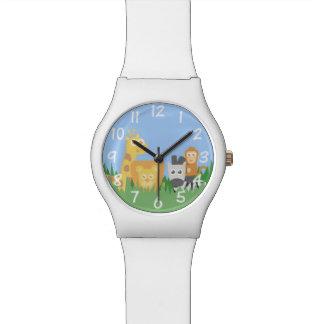 子供の時計のためのサファリ動物のテーマ 腕時計