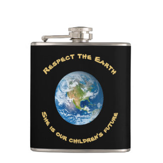 子供の未来の点の惑星の地球のフラスコ フラスク
