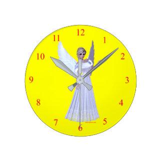 子供の柱時計 ラウンド壁時計