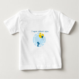 子供の権利 ベビーTシャツ