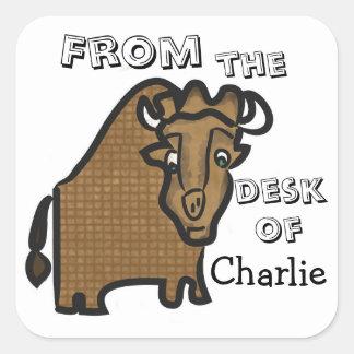 子供の水牛の文房具のステッカー スクエアシール