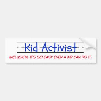 子供の活動家のバンパーステッカー バンパーステッカー