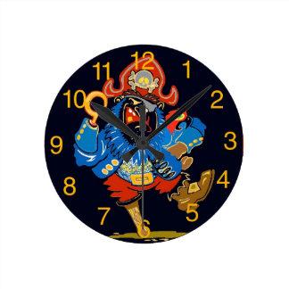 子供の海賊時計 ラウンド壁時計
