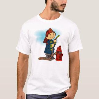 子供の消防士のTシャツ Tシャツ