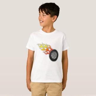 子供の熱い車輪のティー Tシャツ