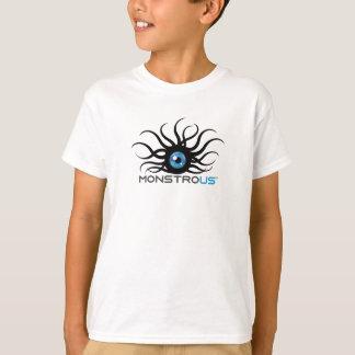 子供の白く巨大なTシャツ Tシャツ