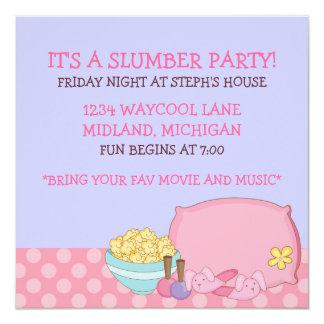 子供の眠りのパーティの招待状 カード