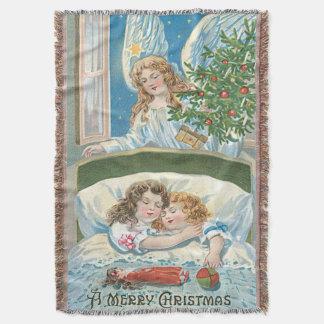子供の睡眠の天使のクリスマスツリーの窓 スローブランケット