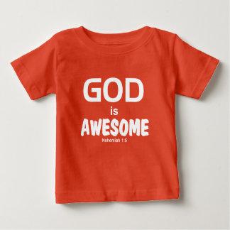 子供の神は素晴らしいティー- Nehemiahの1:5です ベビーTシャツ
