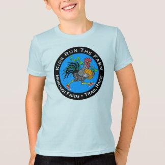 子供の綿の不足分の袖のワイシャツ Tシャツ