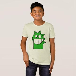 子供の緑の漫画のおもしろいなドラゴンのワイシャツ Tシャツ
