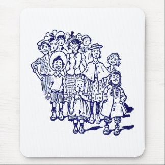 子供の群集 マウスパッド