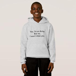 子供の芸術家のフード付きスウェットシャツ