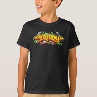 子供の落書き: Gradyの落書きStreetwear Tシャツ