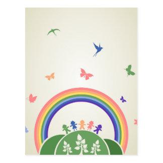子供の虹 ポストカード
