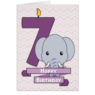 子供の誕生日のための漫画のベビー象 カード