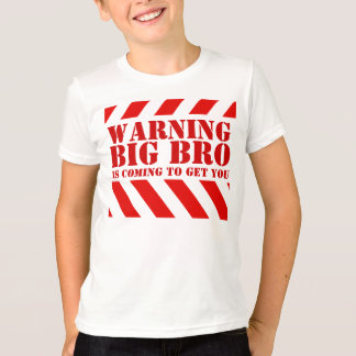 子供の警告のストライブ柄の大きいbroのTシャツ Tシャツ