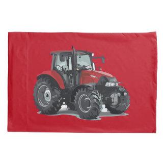 子供の赤いトラクターの農場の枕カバー 枕カバー
