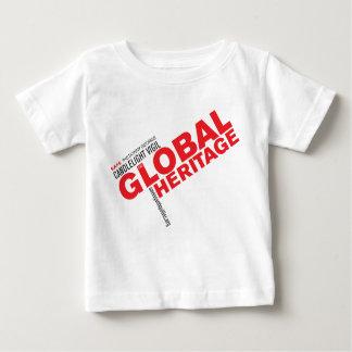 子供の赤いロゴの全体的な伝統のワイシャツ ベビーTシャツ