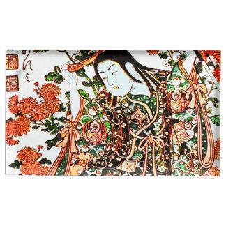 子供の遊ぶことのヴィンテージの日本のな絵画 テーブルカードホルダー