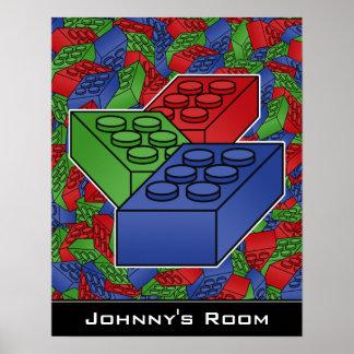子供の部屋のためのブロックポスター ポスター