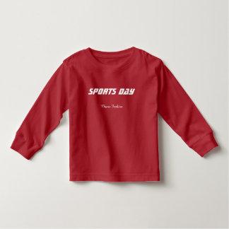 子供の長いTシャツ-スポーツ日のロゴ トドラーTシャツ