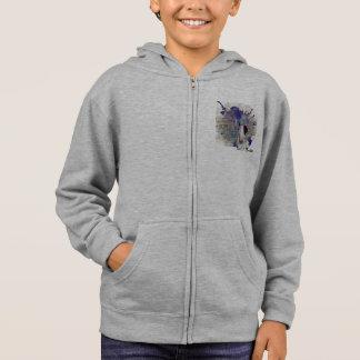 子供の青ブルテリアのニュースはジッパーのフード付きスウェットシャツをはねかけます パーカ