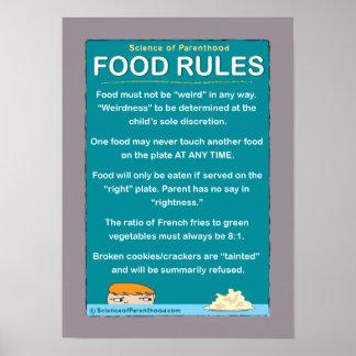 子供の食糧は#1を支配します(紫色) ポスター