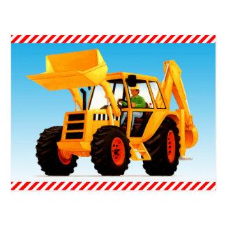 子供の黄色い建築の坑夫 ポストカード